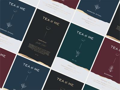 Tea&Me illustration vector logo color branding teapackaging tea labeldesign packaging design typography