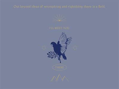 Peace animal bird draw quote color icon logo design illustration typography