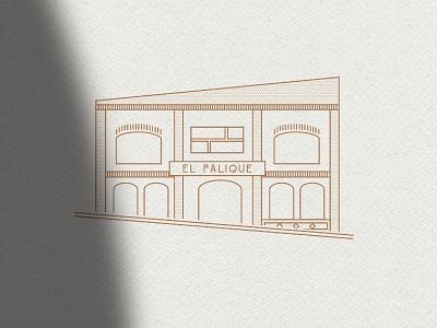 El Palique logo typography design packaging branding illustration