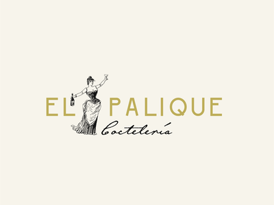 El Palique Cocteleria design illustration vintage bar