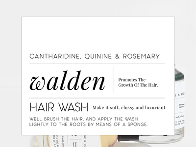 Walden typography branding label