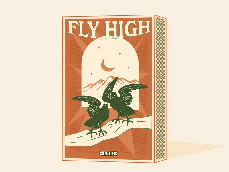 Fly High Lovers!! branding draw bird i̇llustration