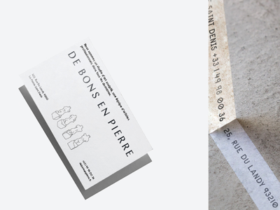 Cards for De Bons En Pierre businesscard typography carddesign