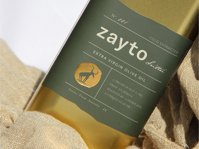 Zayto packaging typography label