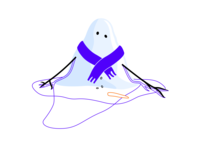 snowman ice melting climate change cold illustration snow winter snowman