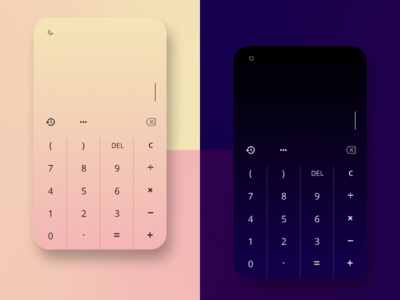 Daily UI Challenge 004 calculator design dailyuichallenge dailyui004 challenge dailyui
