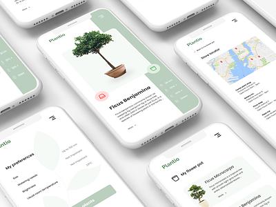 Plantio - Tinder for plant loving souls iphone plants tinder app ui design designslices