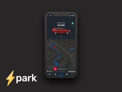 Spark Connected Car Concept Dark UI (Nightmode)