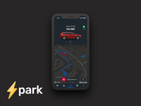 Spark Connected Car Concept Dark UI (Nightmode)