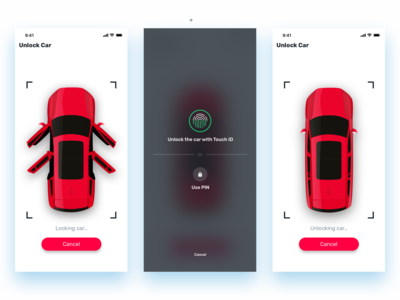 Spark Car Lock Screens