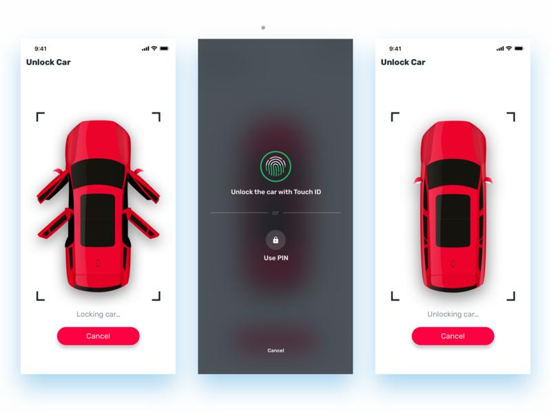 Spark Car Lock Screens by Richard Wålander on Dribbble