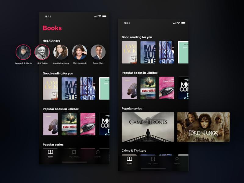 Librifox Audio Books App Concept by Richard Wålander | Dribbble