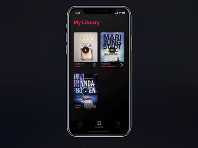 Librifox Audio Book Concept App - My Library Micro Interactions