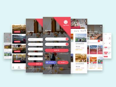 Banquet App UI Design