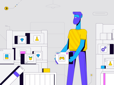 Delivery man people flat 2d online shopping delivery flat design vector illustrations vector character vector character design illustration graphic design