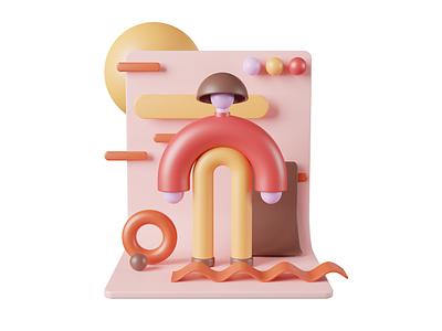 3d Dude adobe materials cinema4d c4d person 3d character illustration graphic design