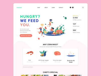 FEEDME | webdesign ideation branding website concept website design