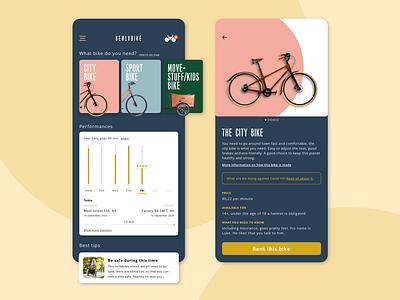 Rentabike userinterfacedesign userinterface webdesign website rentabike ui appdesign app concept