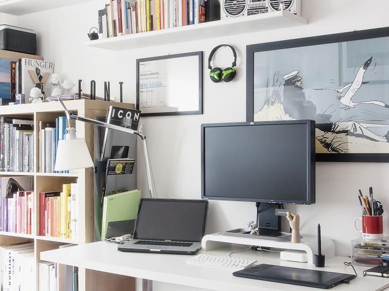 My desk workspace desk office setup type mac macbook home apple