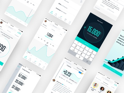 Tready – Product Design bank app bank money b2c b2b startup investment trading ui brand app