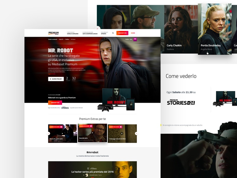 Mediaset Premium netflix smart tv home television tv mediaset ui typography money mobile minimal layout grid art direction