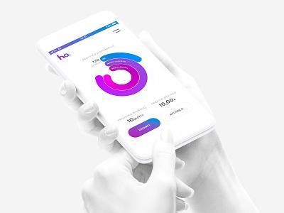 Ho – App Home Screen vodafone telco sim ui mobile gradient mobile operator counter branding brand app