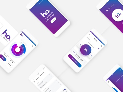 Ho – App ui mobile uiux mobile operator brand gradient vodafone telco sim