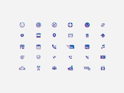 Ho – Iconography branding identity illustration sim gradient mobile operator vodafone telco brand iconography