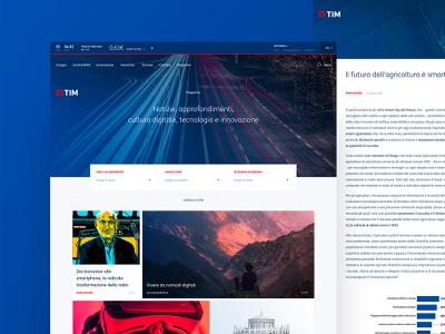 TIM — Concept Redesign blog typography concept art direction ux ui desktop clean layout tim corporate