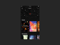 Cinear — Movies near you typography app clean cinema movies app black animation movies art direction layout ui
