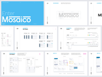 Mosaico — Identity control medical clinical ui brand layout art direction product design identity