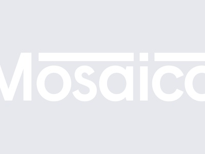 Mosaico — Identity corporate icon logo branding art direction clean typography identity vector design brand