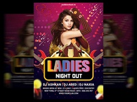 Ladies Night Out Flyer Psd Template