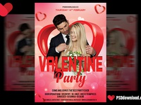 Valentine Day Flyer Psd Template Cover
