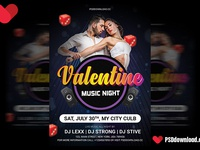 Valentine Music Flyer Psd Template