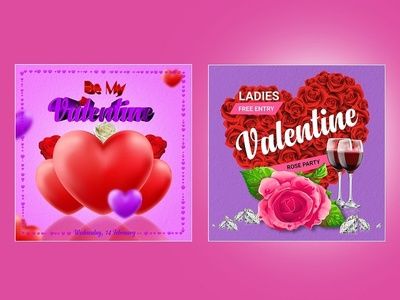 Valentine Social Media Psd Template Set Cover