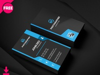 Free Simple Graphic Desinger Business Card Psd Template Cover