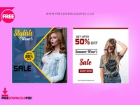 Stylish Wears Social Media PSD Template Set