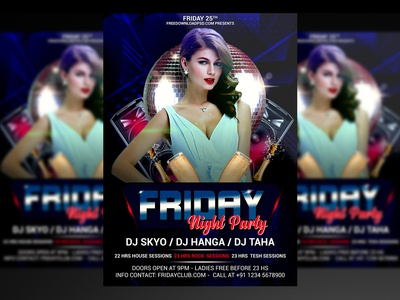 Friday Night Party Flyer