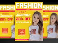 Summer Fashion Week Flyer