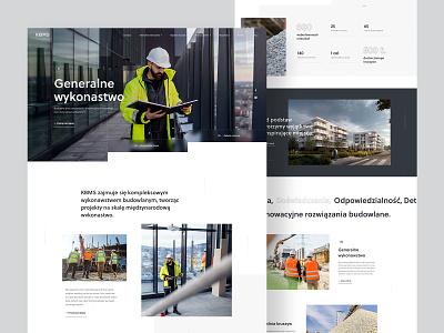 KBMS - Construction Company building company construction design webdesign web ux ui