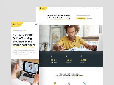 Lanterna - Education online course education website design webdesign web ux ui