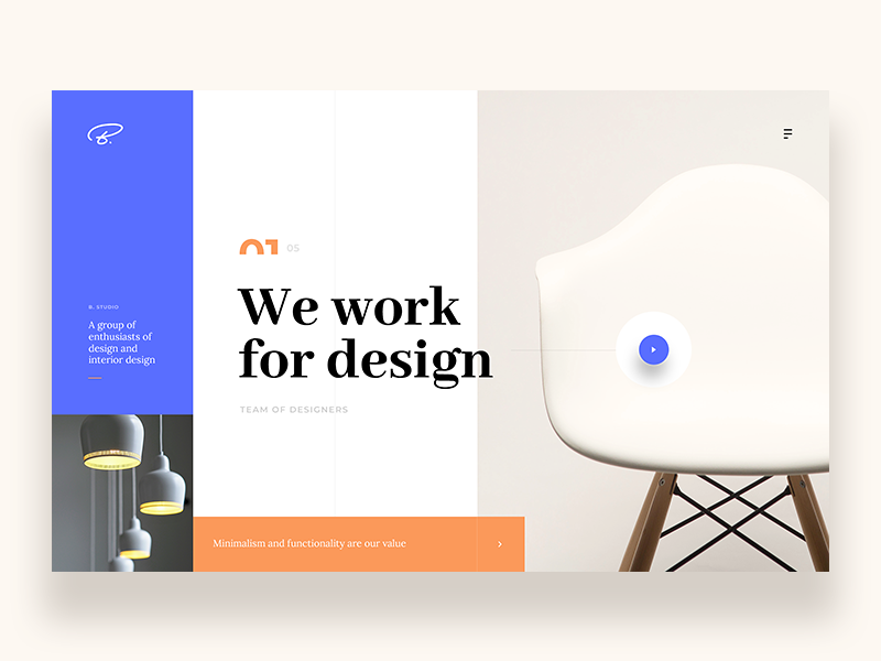 B Design Studio Website By Netflayo On Dribbble