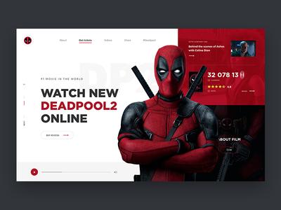 0684e30e43 Deadpool - Website Concept