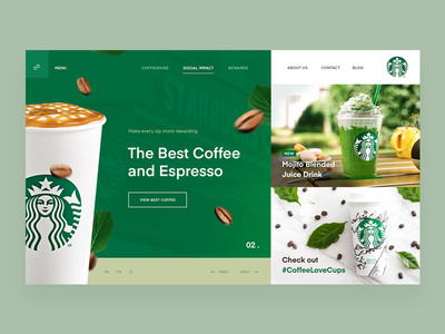 Starbucks - Website Concept ux ui design website cafe drink coffee starbucks