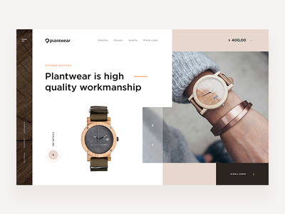 Plantwear - Website Concept time plantwear watch web concept ui ux webdesign