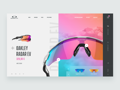 Oakley - Website Concept design ux ui web glasses sunglasses oakley