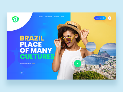 Brazil - Website Concept travel brazil web concept ui ux webdesign