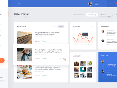 Blog - Dashboard blog dashboard web concept ui ux webdesign