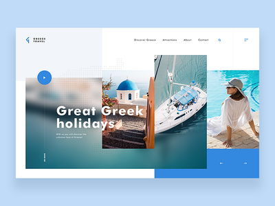 Greece Travel - Website Concept summer holiday greece web concept ui ux webdesign